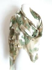 Sir Alistair Rai Prayer Scarf Wrap Tiger olive green beige como Print NWT