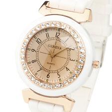 Moda Cristal Dial reloj de cuarzo mujeres deportes muchacha mujer Sport Watches