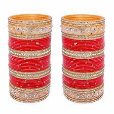 Red Bridal Dulhan Punjabi Choora Designer Chuda Stone Fashion Chura Set