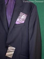 "New M&S Sartorial Savile Row S/Breasted 100% Wool Jacket Blazer- Grey 40"" LONG L"