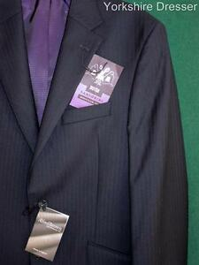 "New M&S Sartorial Savile Row S/Breasted 100% Wool Jacket Blazer- Grey 40"" LONG L"