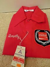 Vintage Coca Cola Employee Jacket New Unworn Dorothy Red Nylon Size XS Coke