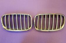 BRAND NEW BMW E70 E71 X5 X6 07 - 12 Front Chrome / Silver GRILLE GRILL Pair