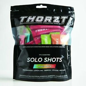 Thorzt Hydration Electrolyte Drink Sugar Free Solo Sachets x 50 pack - Mixed