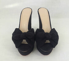 CHARLOTTE OLYMPIA Wedges Shoes JAYNE KNOT Terry Black. Sz 40