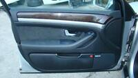 AUDI A8 BLACK LEFT HAND FRONT DOOR TRIM D3,  09/03-07/10