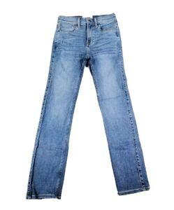 Abercrombie Kids Girls Slim Straight Stretch Medium Wash Jeans Size 11/12 EUC