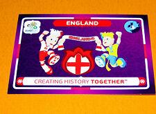45 MASCOTTES ENGLAND ANGLETERRE FOOTBALL PANINI UEFA EURO 2012