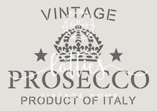 STENCIL A5 VINTAGE PROSECCO Furniture Wine Crate Vintage French ❤ SHABBY CHIC