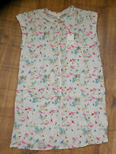 BNWT Stunning White Stuff All For Me Tunic 8-10 with a Cloud and Bird design