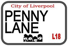 Penny Lane Beatles  Metal Sign