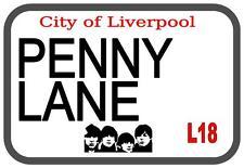 Penny Lane Beatles  Metal Sign