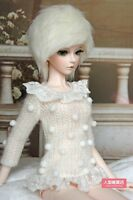 BJD doll wig 8~9 inch(20cm-22cm) 1/3 BJD DOLL MSD Fur Wig Dollfie milky-white