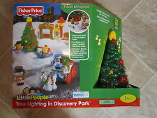 Fisher Price Little People Christmas Tree Lighting Park New Box pretzel ice pond