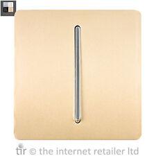 Trendi Artístico Moderno Brillante Interruptor de timbre de puerta Arte Oro-dbGO