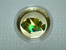 2009 Palau Silver $5 Pacific Wildlife - Flagfin Angelfish Prism