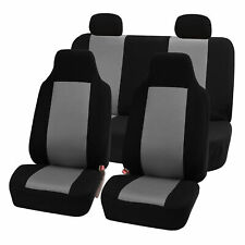 Highback Seat Covers Seat For Car SUV Auto Van Full Set Gray Black