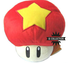 SUPER MARIO BROS. FUNGO STELLA GRANDE 30 CM pupazzo peluche rosso Mushroom star