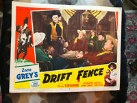 Drift Fence 1951RR Favorite western lobby card Buster Crabbe Zane Grey