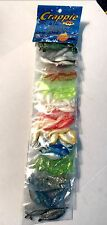 Crappie Pro Assorted Color Combos Dyno Shads ( 120 Lures Total )