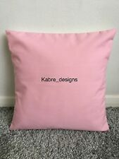 """NEW 16"""" PLAIN BABY PINK CUSHION COVER PILLOW BED SOFA MORE COLOURS SIZES AVAIL"""