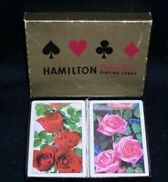 Hamilton Playing Cards~Double Deck w/Red/Pink Rose Cardbacks~Both Sealed