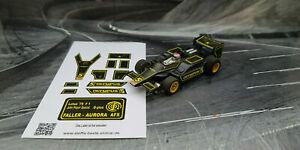 """AURORA AFX G-Plus Repro Paper Sticker Lotus '79 F1 John Player Spezial """"OLYMPUS"""""""