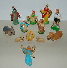 12 SANTONS PLASTIQUES VINTAGE MADE IN HONG KONK