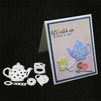Stanzschablone Tea Time Kekse Hochzeit Weihnachten Geburtstag Karte Album Deko