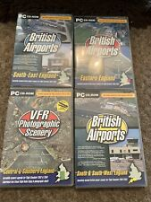 British Airports Volumes 1 2 &3 & Vfr Photographic Scenery For Flight Sim 2002/4