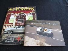 2012 2011 Bentley Continental GTC Brochure & CD-Rom Convertibe Catalog & Magazin