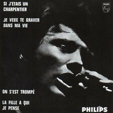 ☆ CD Single Johnny HALLYDAY	Si j'étais un charpentier EP REPLICA  Philips 9800 ☆