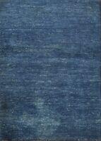 Modern Blue Gabbeh Hand-knotted Oriental Area Rug Wool Home Decor Carpet 2x3