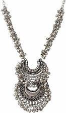 Boho Gypsy Tribal Statement Kuchi Bell Necklace Chain Pendant Fashion Jewelry