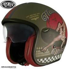 Casque Helmet Jet Premier Vintage Evo Goupille Up Military BM S