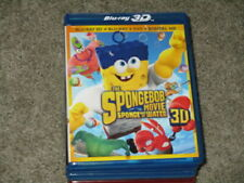 3D MOVIE BLU RAY SPONGEBOB SQUARE PANTS THE MOVIE SPONGE OUT OF WATER