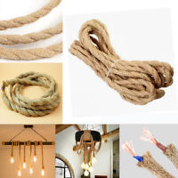 5/10M Vintage Rope Electric Wire Twisted Retro Hemp Braided Electric Cable Decor