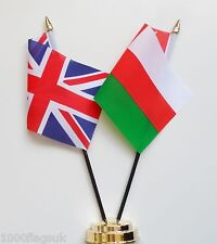United Kingdom & Oman Double Friendship Table Flag Set