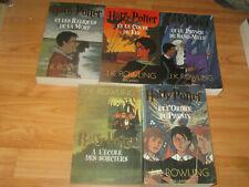 Lot  7 LIvres Harry Potter Complete Set French Francais