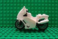 Genuine Lego City 7235 Police Bike Motorcycle Motorbike - White