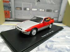 PORSCHE 924 Turbo Coupe 1979 silber silver rot red Spark Resin 1:43