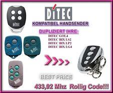 Ditec GOL4, Ditec BIXLG4 kompatibel handsender / KLONE 433,92Mhz / Ersatz