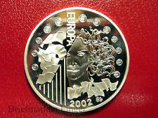 2002 France Large Silver Proof 1.5 euro European Union- Europa