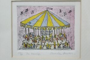 """Daniele Desplan """"Au Monege"""" Watercolor Etching Signed & Numbered 28/60"""