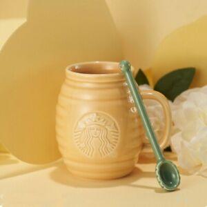 Starbucks China 2021 Valentine's Day Gift Sweet Honey Jar 12oz Ceramic Mugs