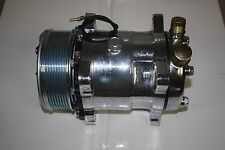 Chrome Sanden compressor 508 serpentine belt a/c air conditioning 134a SBC BBC