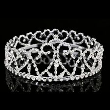 Gorgeous Full Crown Bridal Pageant Rhinestone Crystal Prom Wedding Tiara 7943