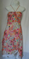 KAREN MILLEN WOMENS PINK MIX  FIT & FLARE SUMMER DRESS SIZE 8/36 (WD46)