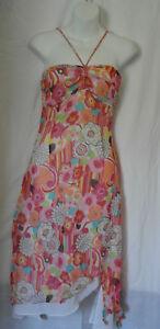 KAREN MILLEN WOMENS PINK MIX  FIT & FLARE SUMMER DRESS SIZE 8/36 (WD46)