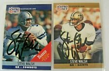 Autographed 1990 NFL Pro Set Steve Walsh Saints #769 And 1990 NFL Pro Set # 484